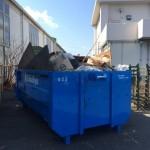 混合廃棄物コンテナ交換前